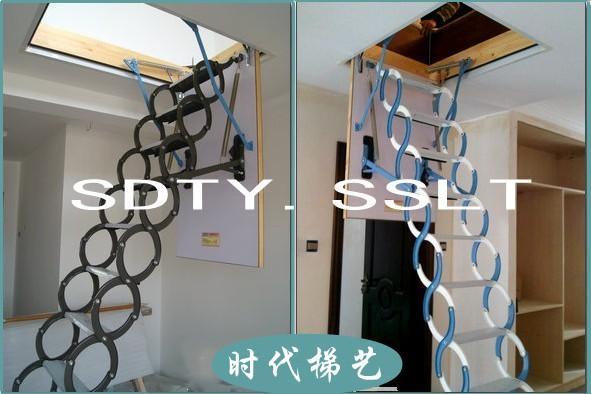 【别墅专用阁楼楼梯,伸缩楼梯设计风格】
